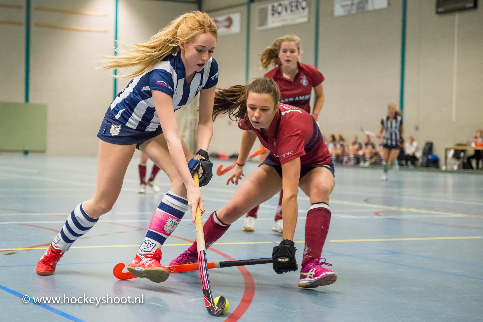 Zaalhockey 9 januari 2016, hdm MA1 - Klein Zwitserland MA1